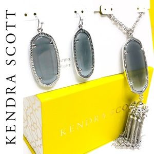 Kendra Scott Slate Gray Cat's Eye Set